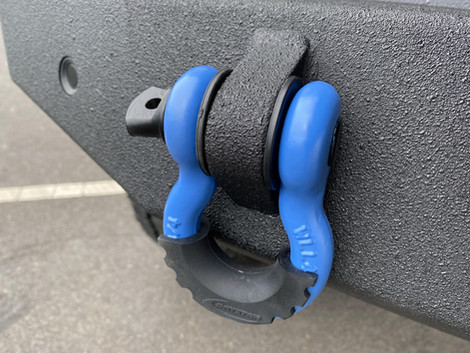 Coated gray and blue Jeep