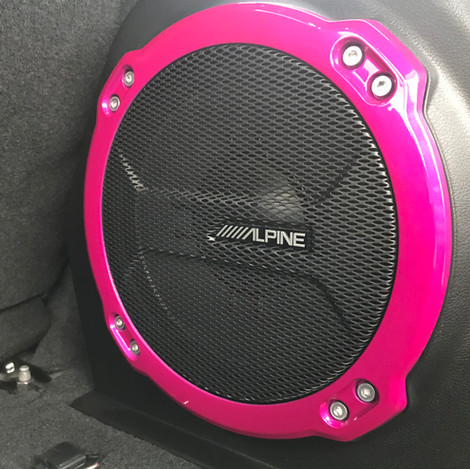 Flat Black and Pink Jeep Wrangler