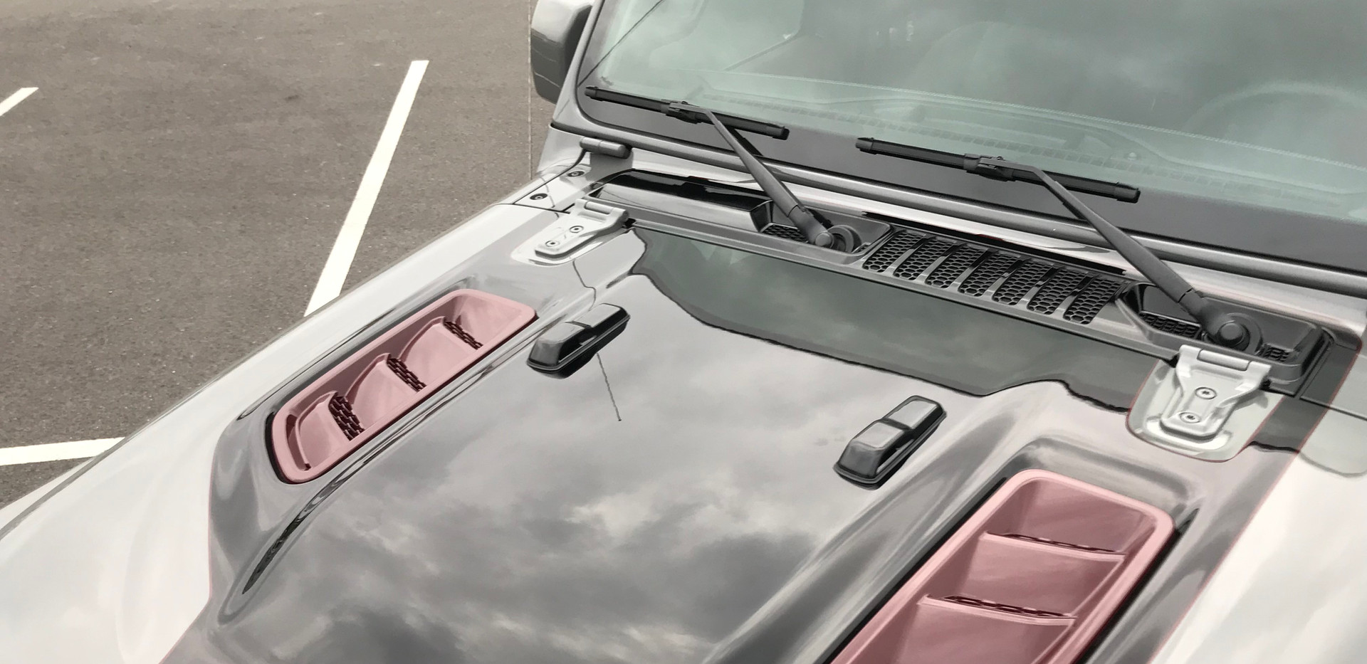 Grey Black and Burgundy Jeep