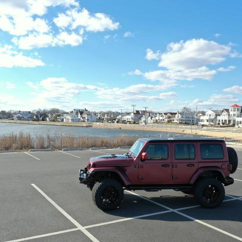 Matte Red Jeep Wrangler