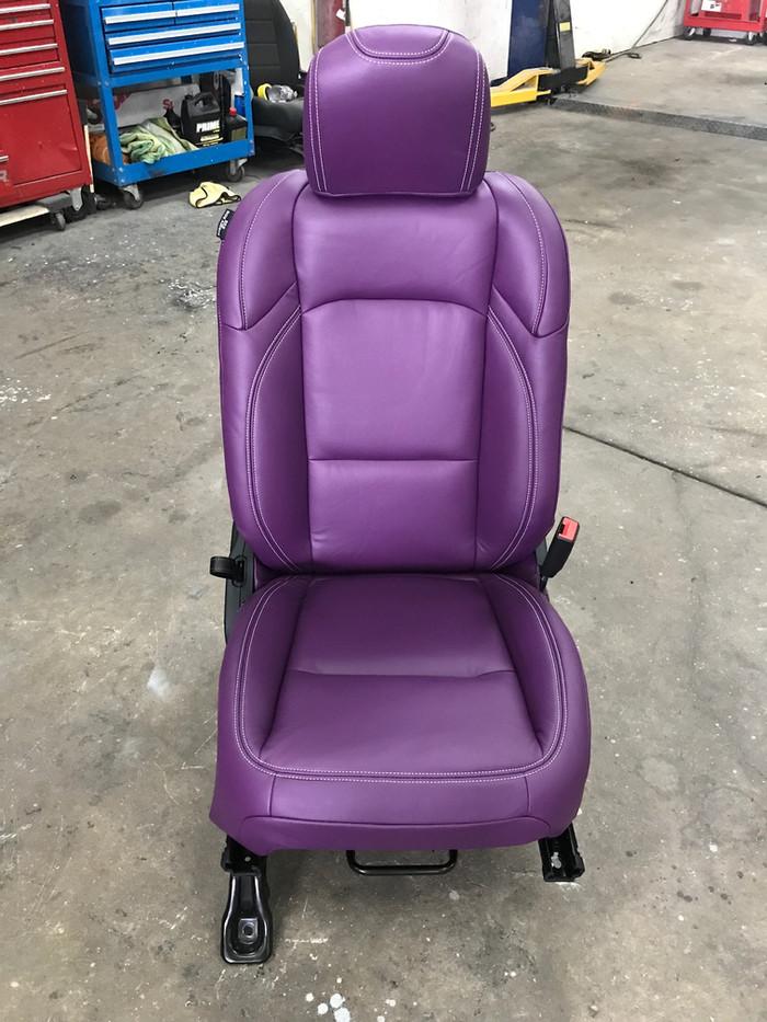 Purple Jeep Interior