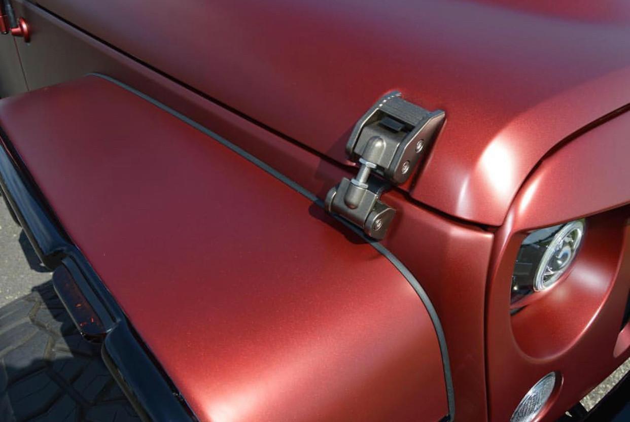 Matte Red Jeep