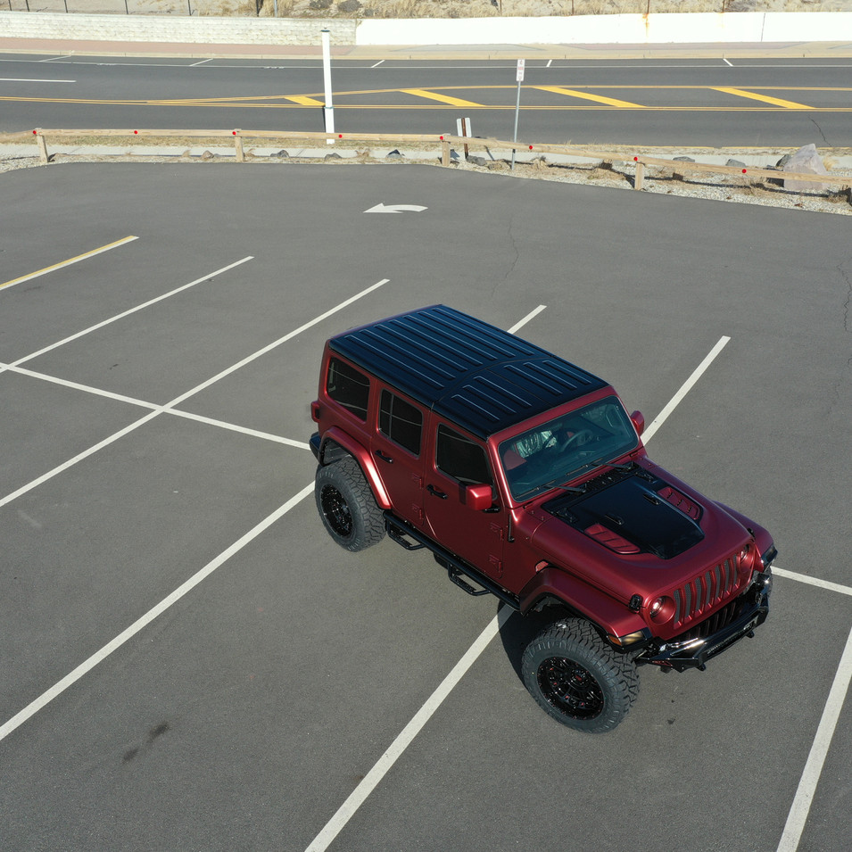 Matte Red Jeep Wrangler
