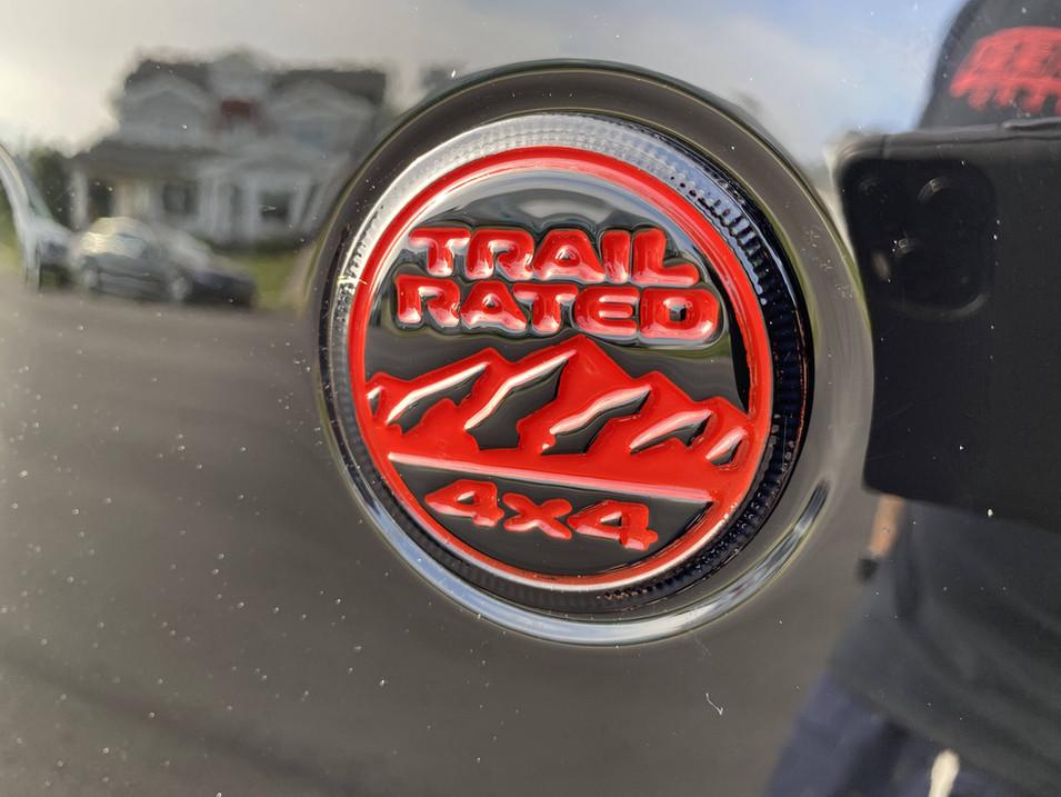 Black & Red Jeep Gladiator Emblem