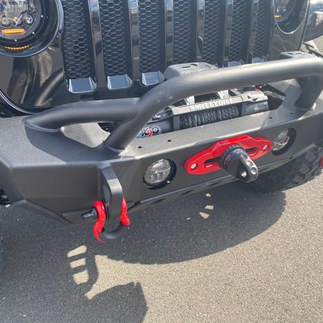 Black Jeep JL Red Accents Front Bumper