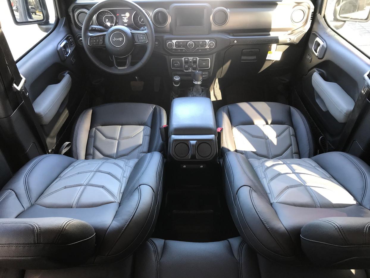 Black and Silver Jeep Interior