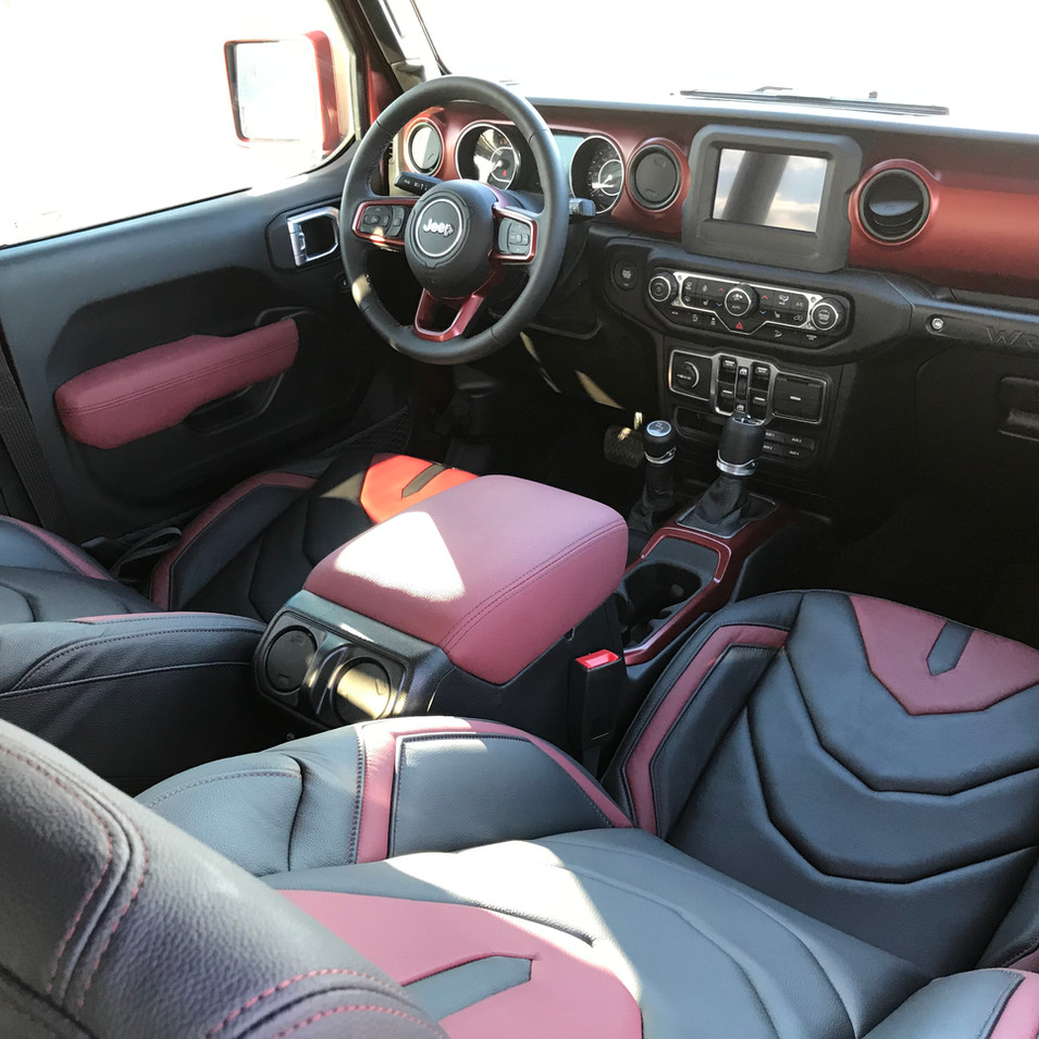 Matte Red Jeep Wrangler Interior