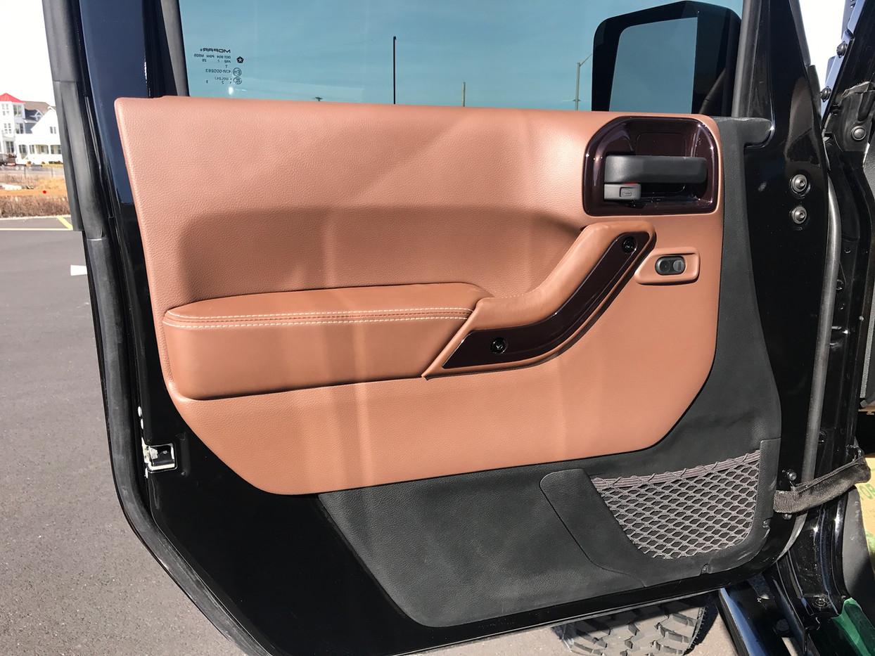 Brown and Cream Jeep Interior