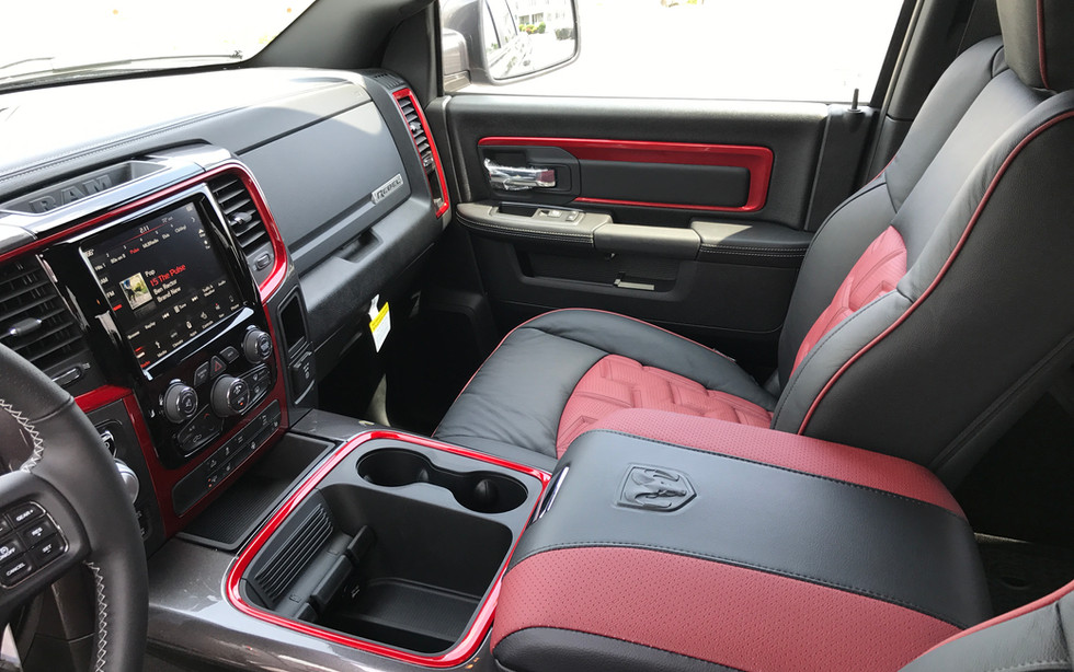 Black and Red Jeep Interior