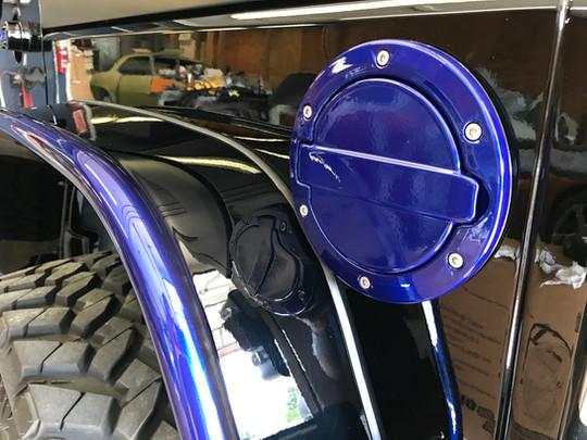 Black and Blue Jeep Wrangler