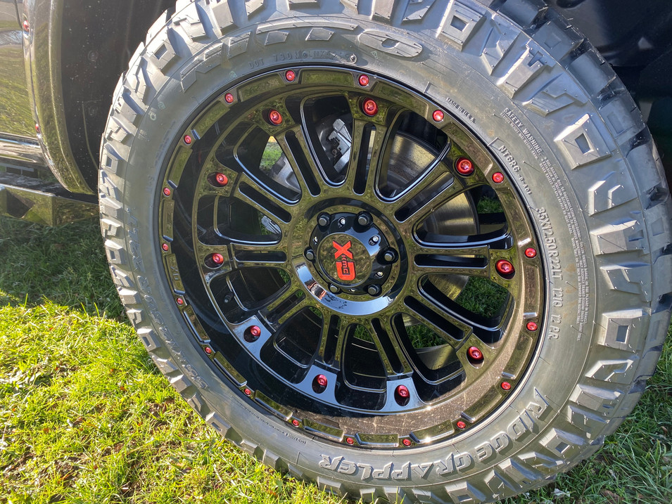 Ram Black and Red Wheel Tire