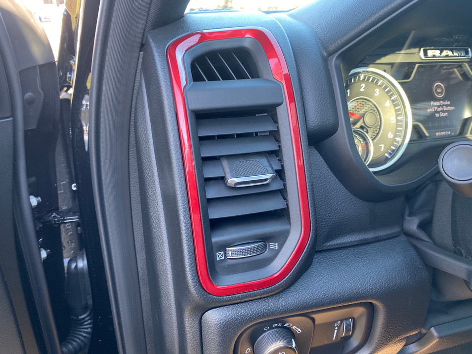 Ram Black and Red Interior