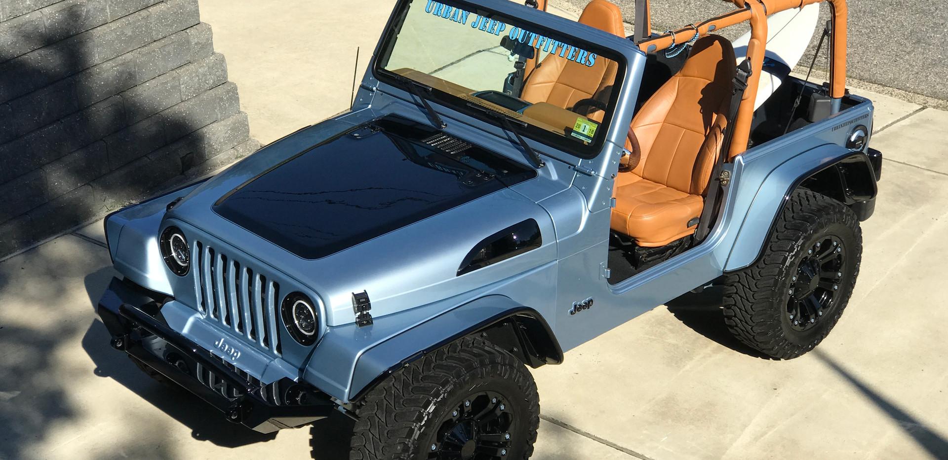 Blue Black Orange Interior Jeep