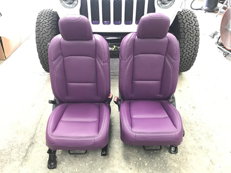 Purple Jeep Interior