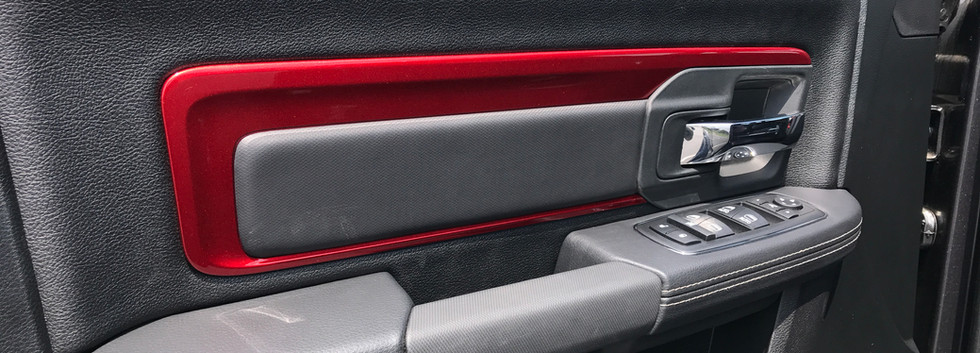 Grey and Red Jeep Interior