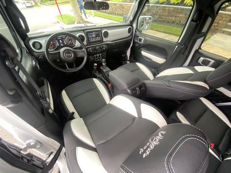 White & Black Jeep JL 2020
