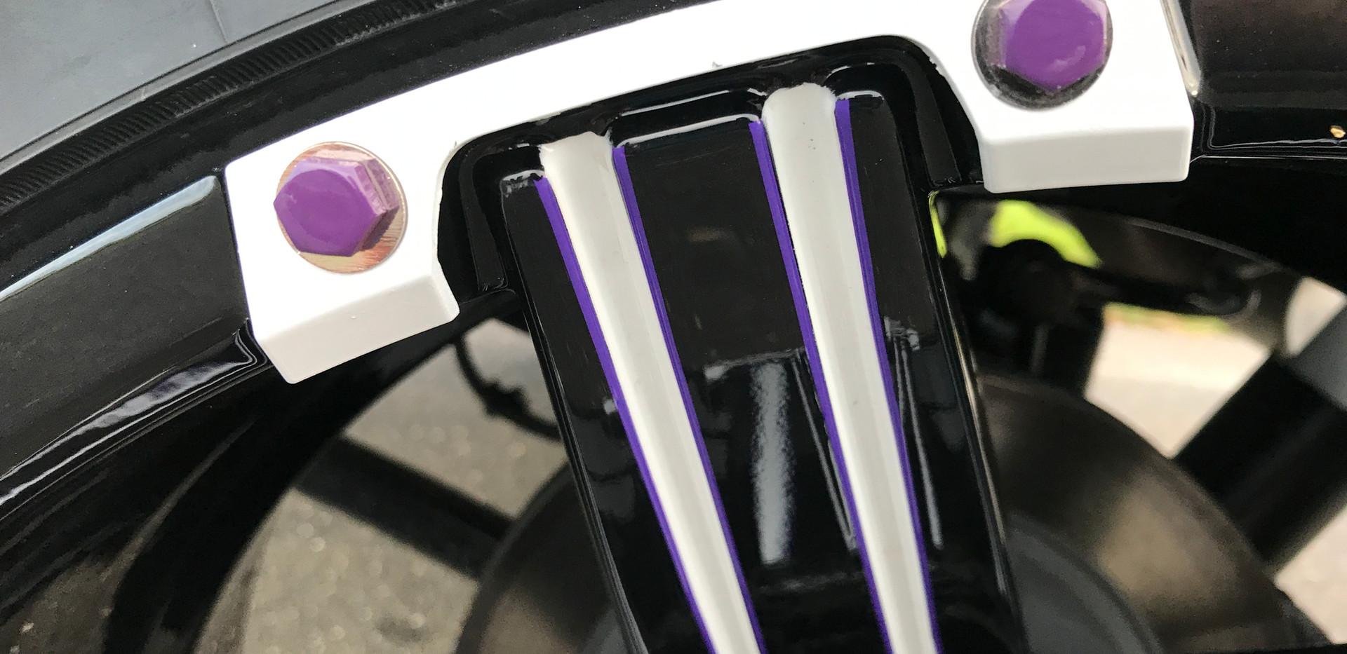 White and Purple Wheel