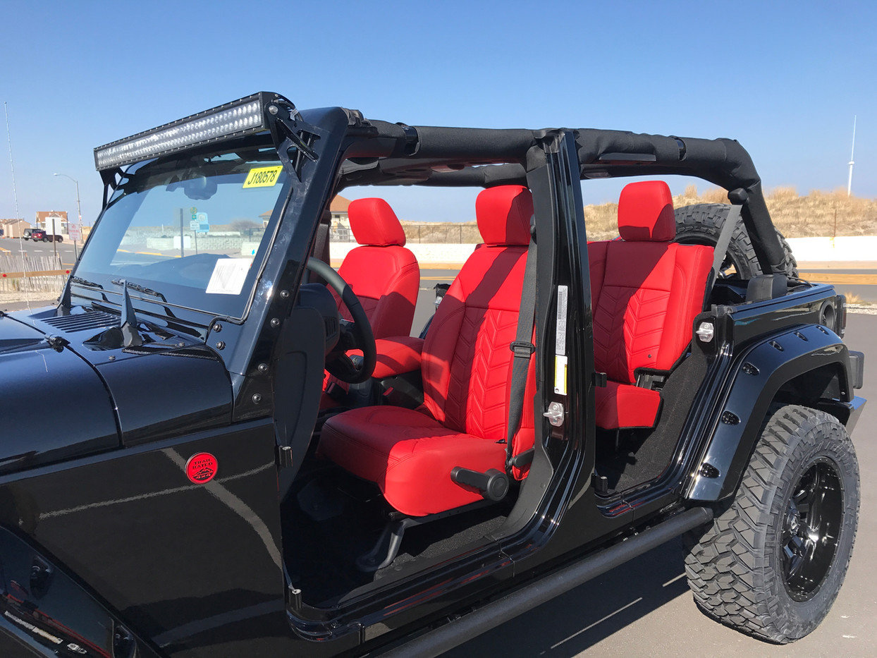 Red Jeep Interior