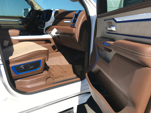 Tan and Blue Ram Interior