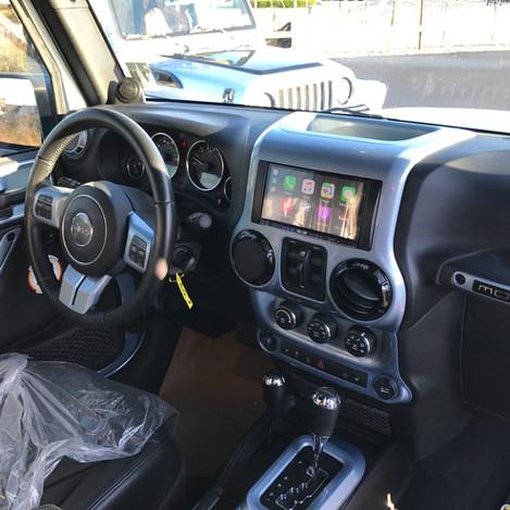 Light Blue Jeep Interior