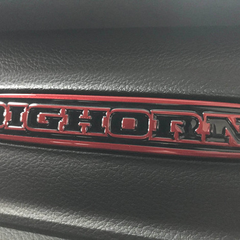 Black and Red Big Horn