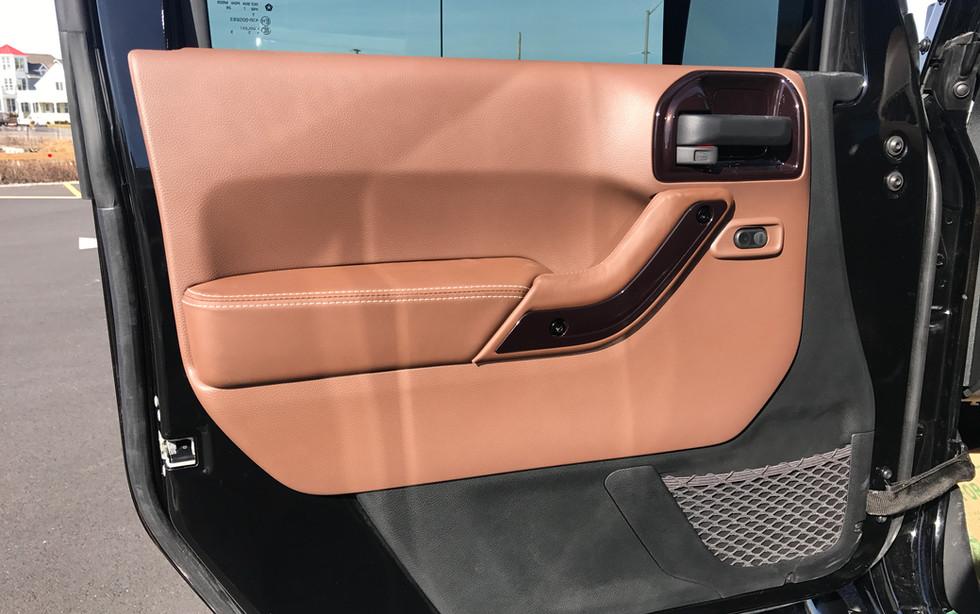 Orange Jeep Interior