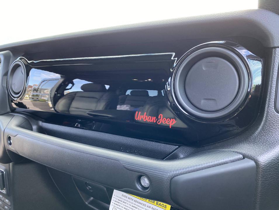 Custom Black and Red Interior Jeep Gladiator