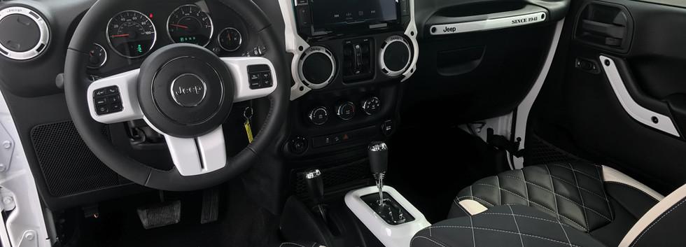 Black and White Jeep Interior