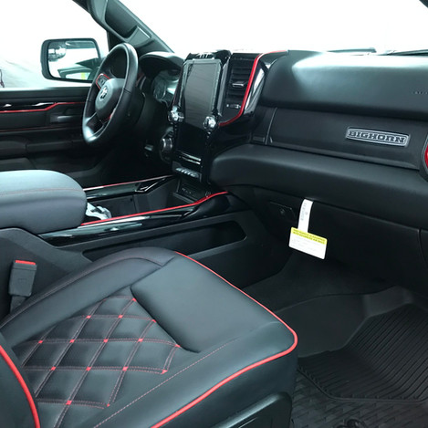Black and Red Big Horn Interior
