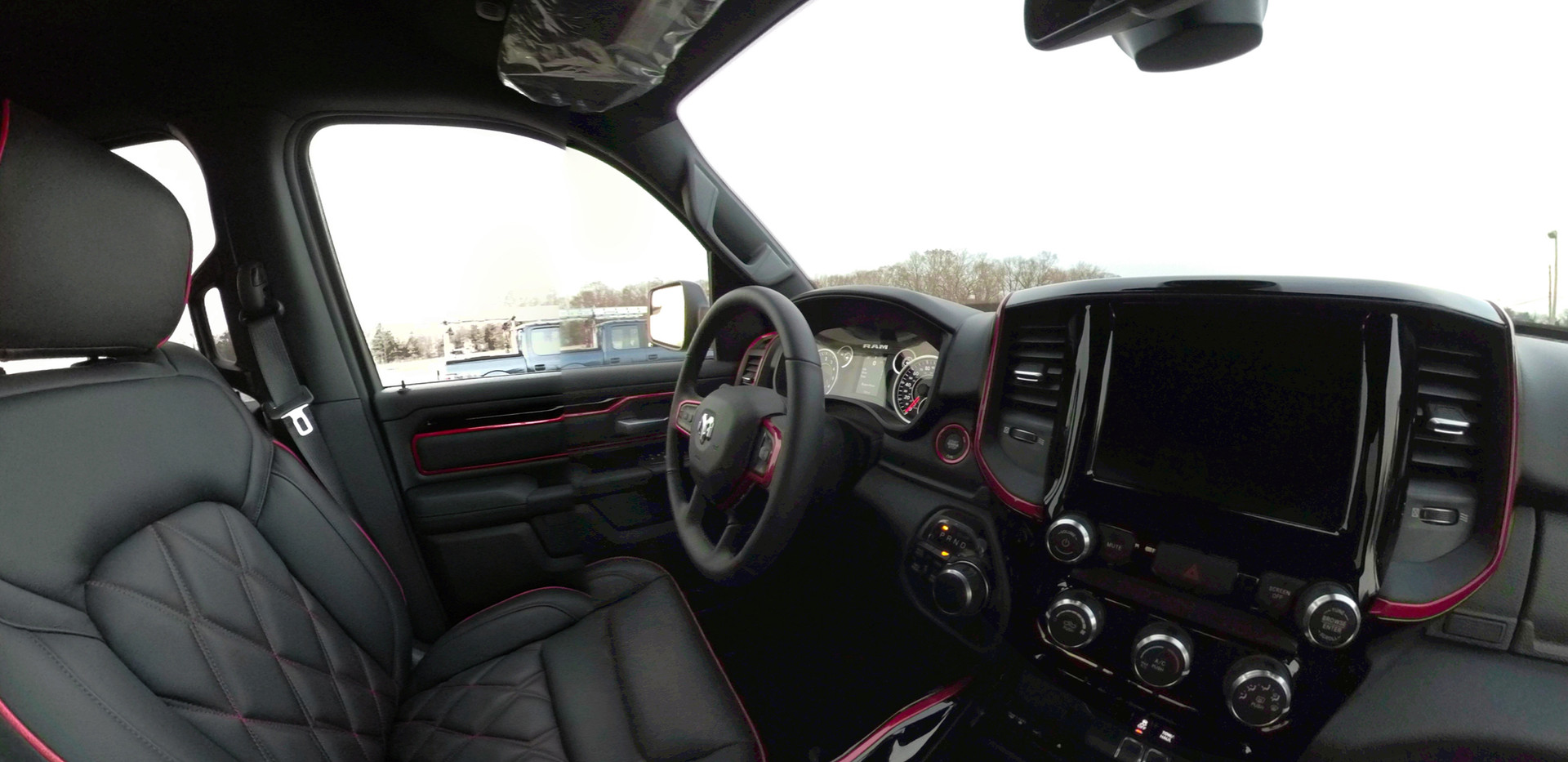 Black with Red Accents Jeep Interior