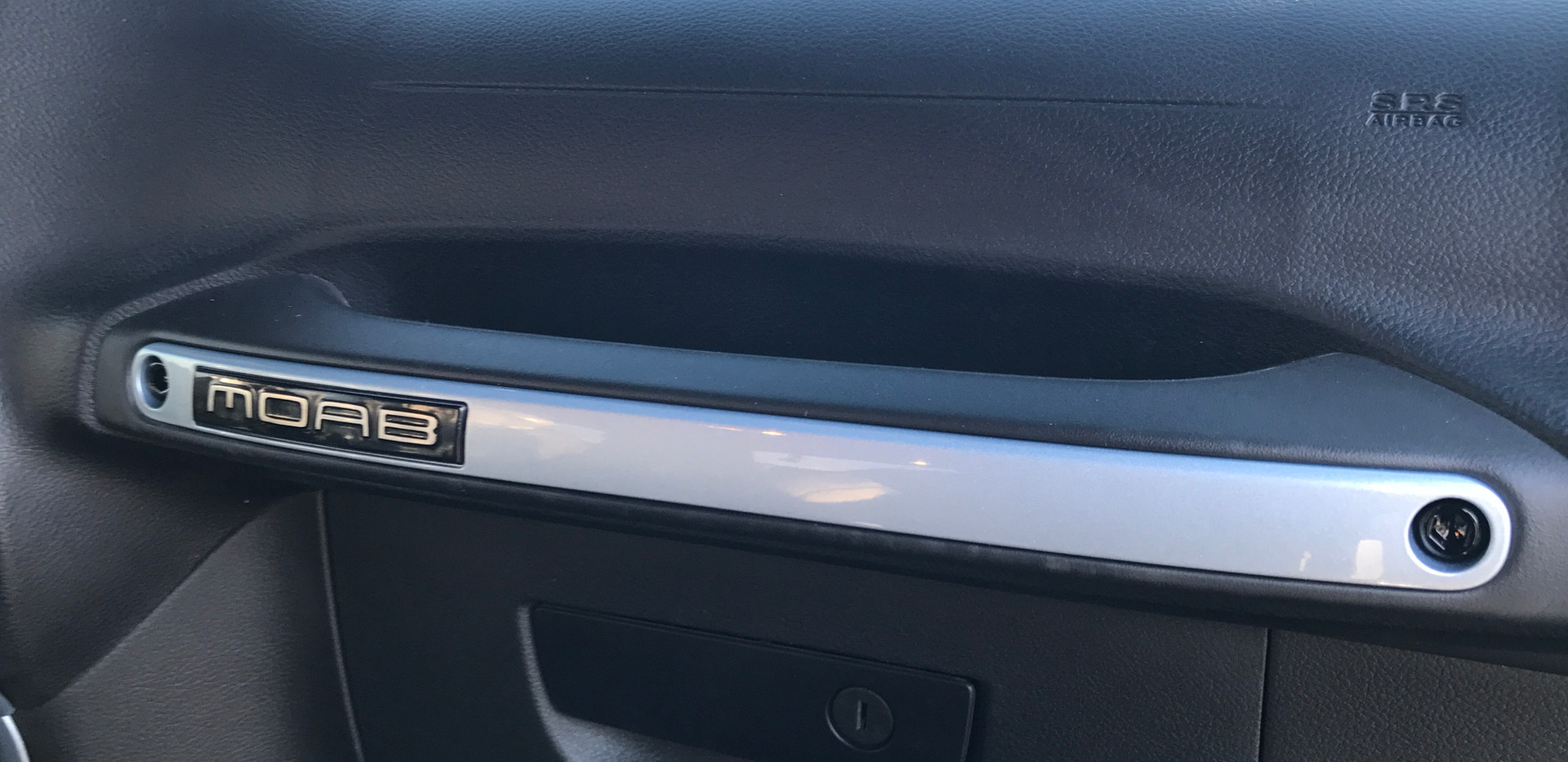 Blue and Black Jeep Interior