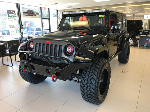 Black and Red Urban Jeep
