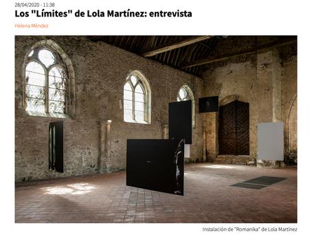 "Entrevista en Efti News sobre ""límite"" a cargo de Helena Méndez."