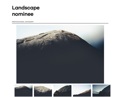 Landscape Professional Award in 7th Fine Art Photography Awards.