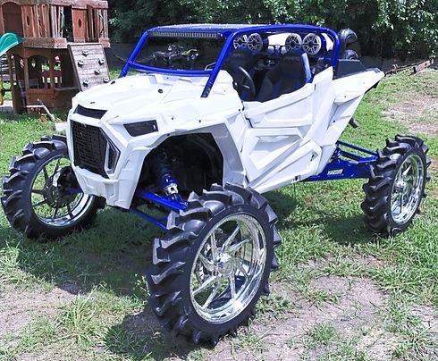 Ideal Fab Co Custom White & Blue RZR