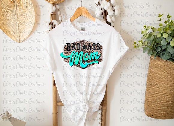 Bad Ass Mom(Teal Words)