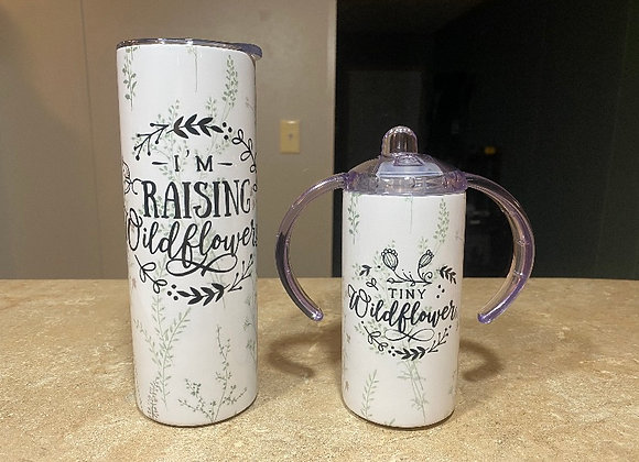 Mommy and Me Wildflower Tumbler Set