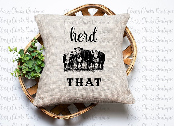 Herd that Pillow Cover