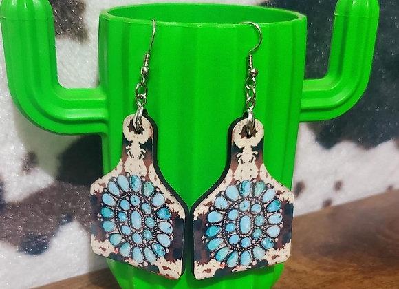 Western Cowtag Earrings