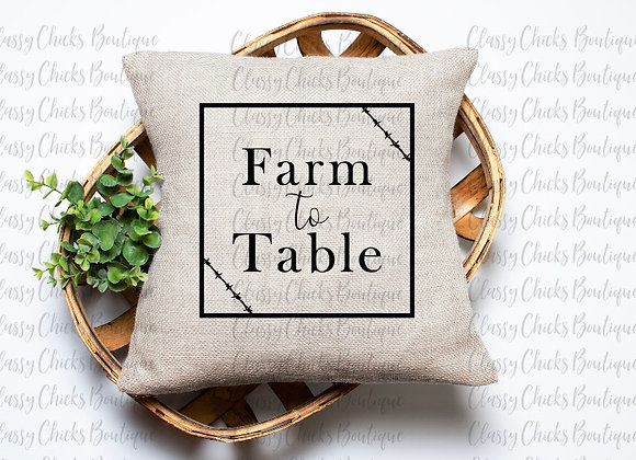 Farm to table Pillow Cover