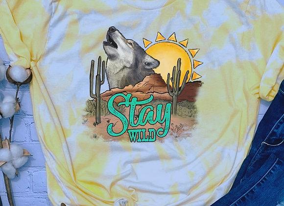 Western Stay Wild- Wolf