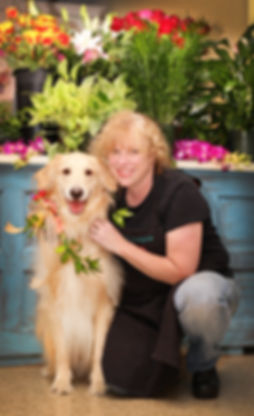 Debi with her dog