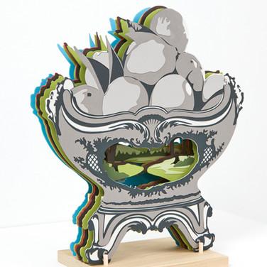 Janice Jakielski: Segmented Fruit Bowl with Landscape