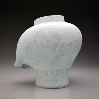 Jar with Tiger and Clouds