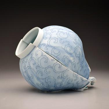 Jar with Scroll Pattern