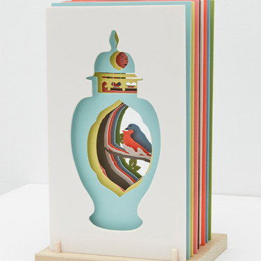 Janice Jakielski: Sliced Meissen Vase with Bird