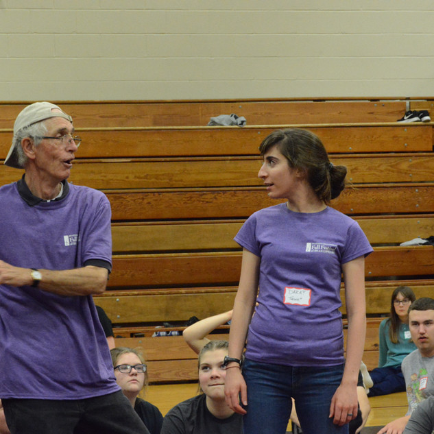 Teaching stomach punches with Kevin Coleman, a founder of Shakespeare & Company, and the Director of Education.