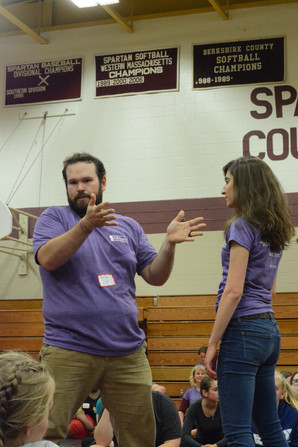 Teaching hair pulls with Douglas Seldin.