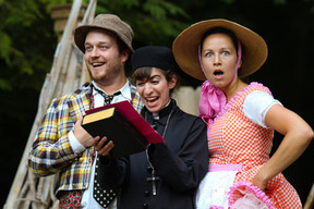 Costard, Sir Nathaniel, and Jaquenetta