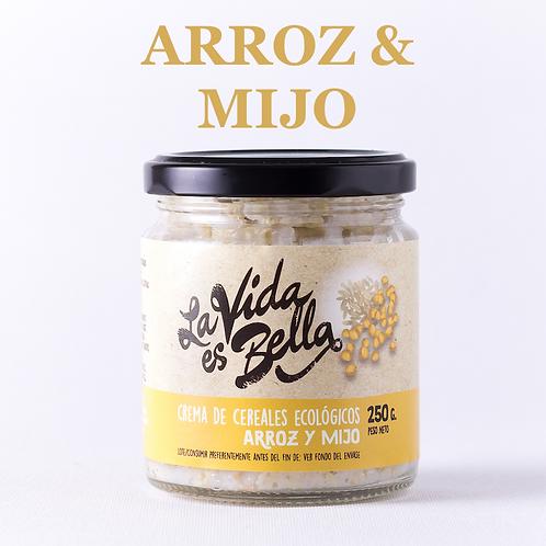 Crema de Arroz y Mijo - Caja de 12 und.